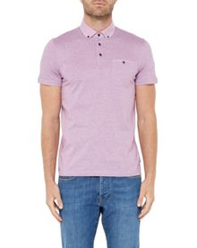 Ted Baker Inwop Linen Collar Striped Polo Shirt