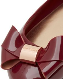 Faiyte Large bow jelly pumps