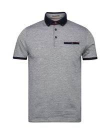 Meyoman contrast collar polo shirt
