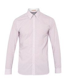 Ted Baker Geo Tile Print Cotton Shirt