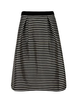 Piery Striped full skirt
