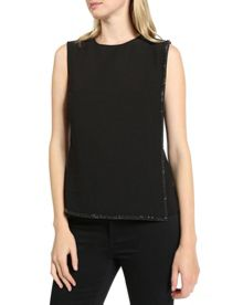 Olayna Bead embellished top