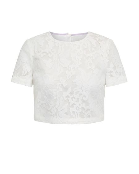 Ted Baker Lace Mesh Crop Top