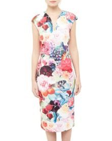Ted Baker Odeela Floral Swirl bodycon dress