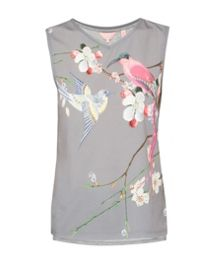 Ted Baker Jamilaa  Flight of the Orient print top