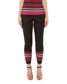Ted Baker Peah Stencilled Stripe skinny trousers