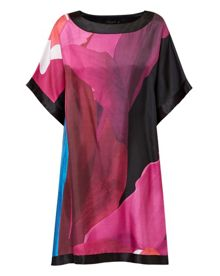 Colett Stencilled Stem silk tunic dres