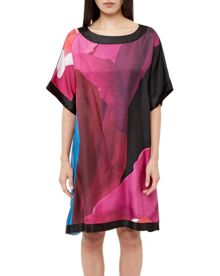Ted Baker Colett Stencilled Stem silk tunic dres