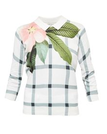 Ted Baker Agneya Secret Trellis collar sweater