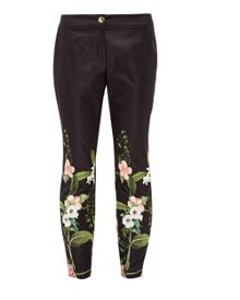 Ted Baker Hadas Secret Trellis Skinny Trousers