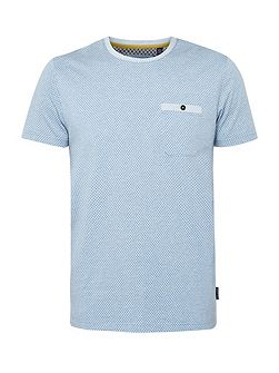 Men's Ted Baker Polrole printed crew neck t-shirt