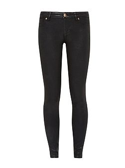Annna Wax finish skinny jeans