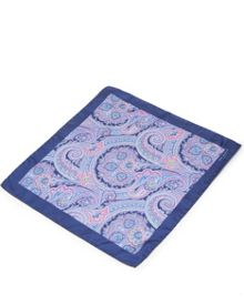 Ted Baker Paislee paisley print pocket square