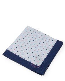 Ted Baker Sospoti linen spotted pocket square