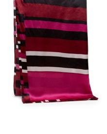 Ted Baker Sheaa Stencilled Stripe Long Silk Scarf