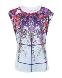 Ted Baker Ellanor Flowered Lattice print T-shirt