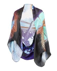 Ted Baker Mea Butterfly Collective silk cape scarf