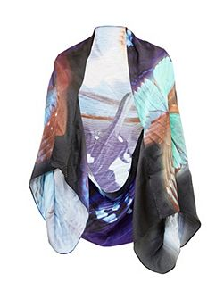 Mea Butterfly Collective silk cape scarf
