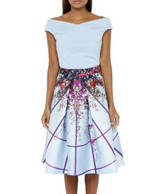 Ted Baker Pascall Flowered Lattice full skirt