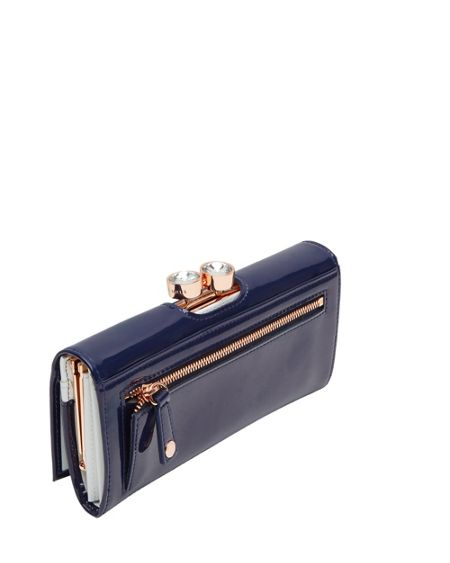 Ted Baker Leather crystal bobble matinee purse