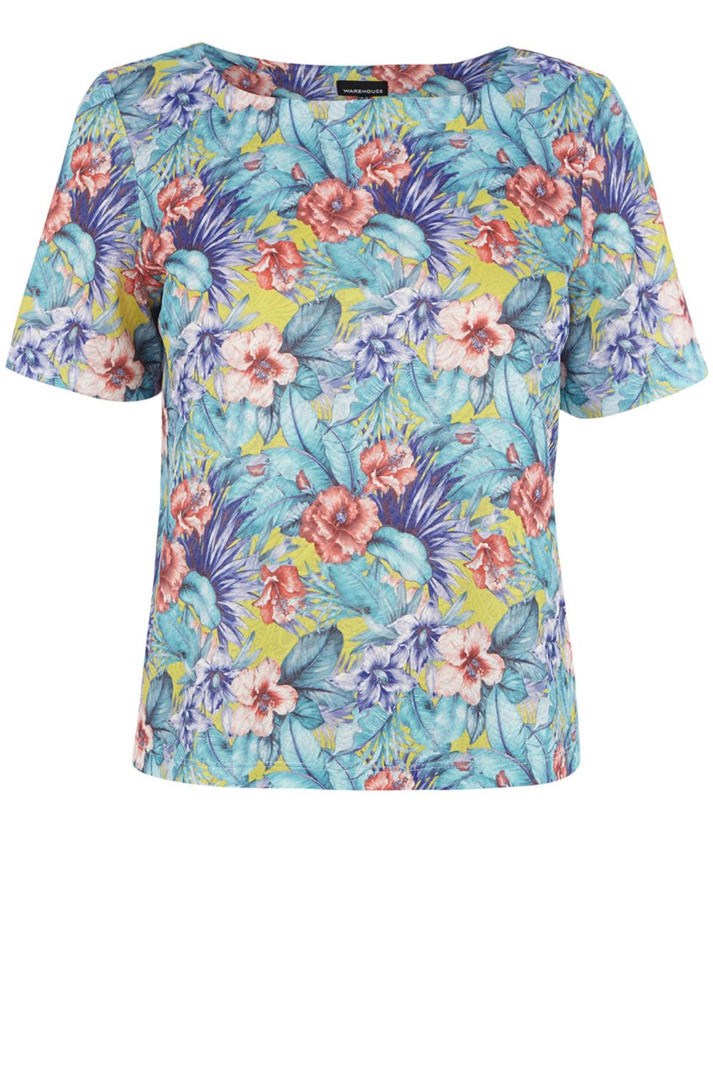 Tropical Floral Textured T-Shirt