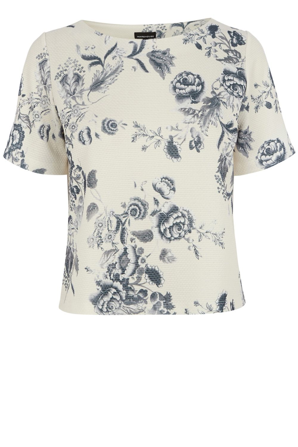 Drawn floral print co-ord top