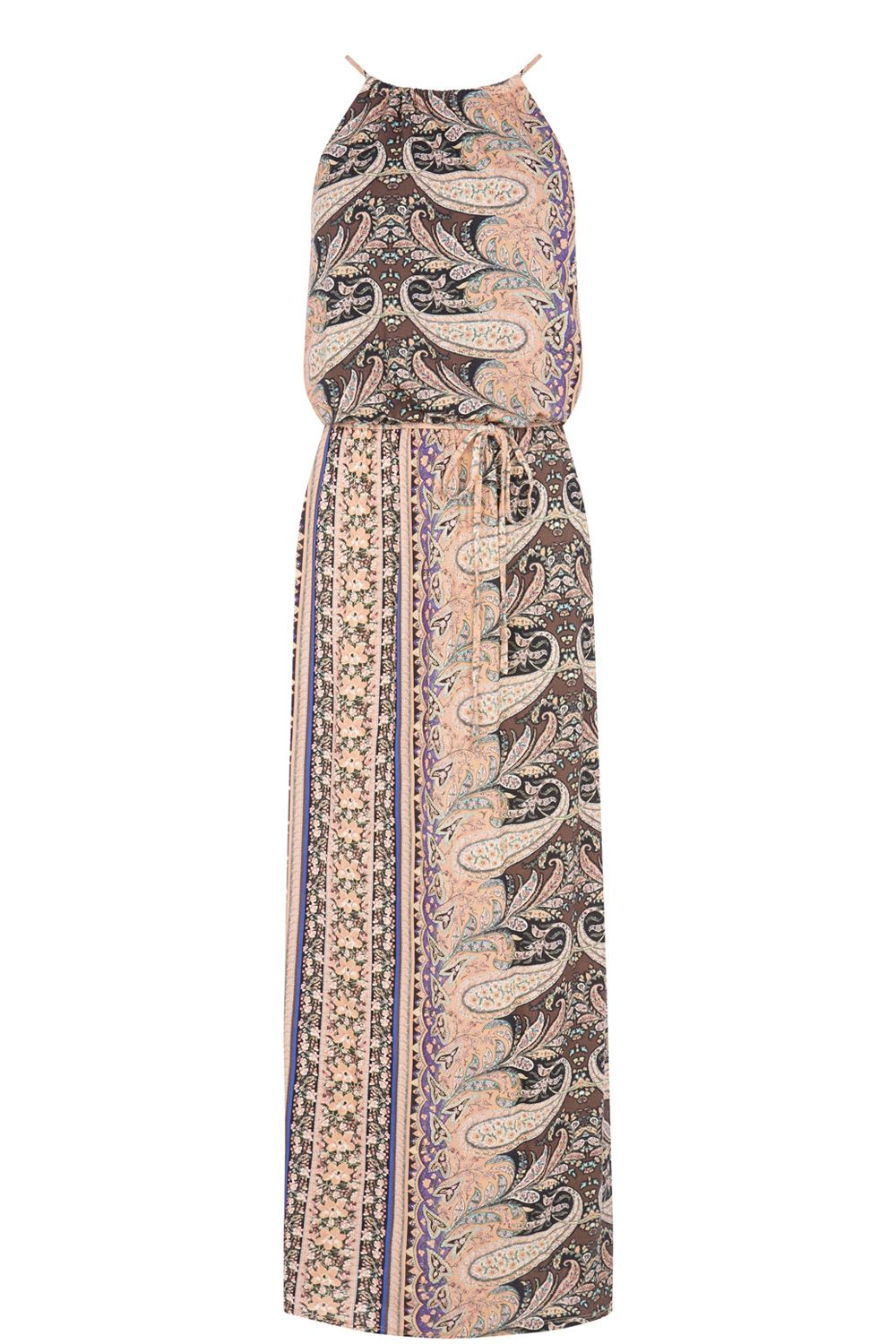 Paisley Column Maxi Dress