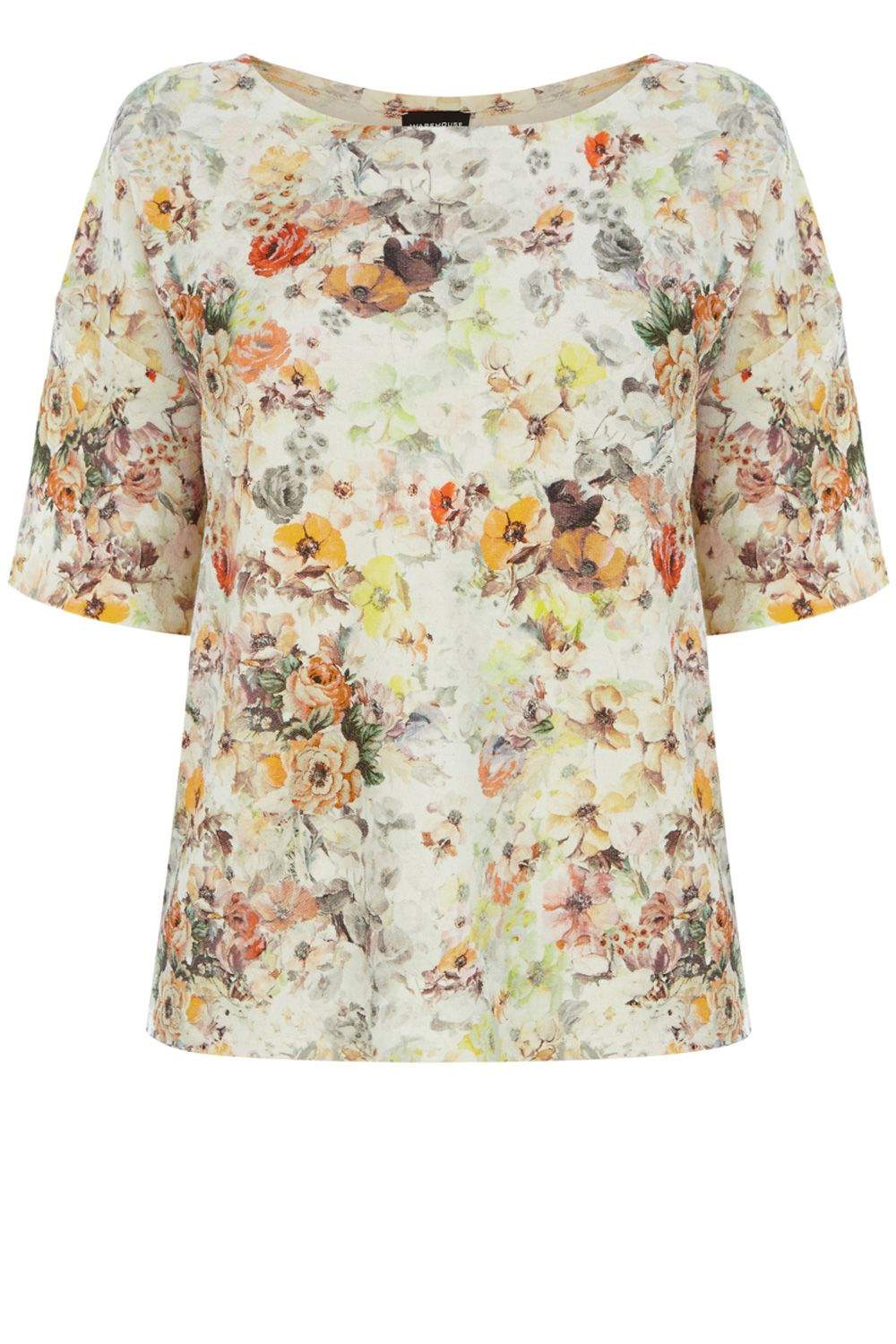 Pretty floral textured t-shirt