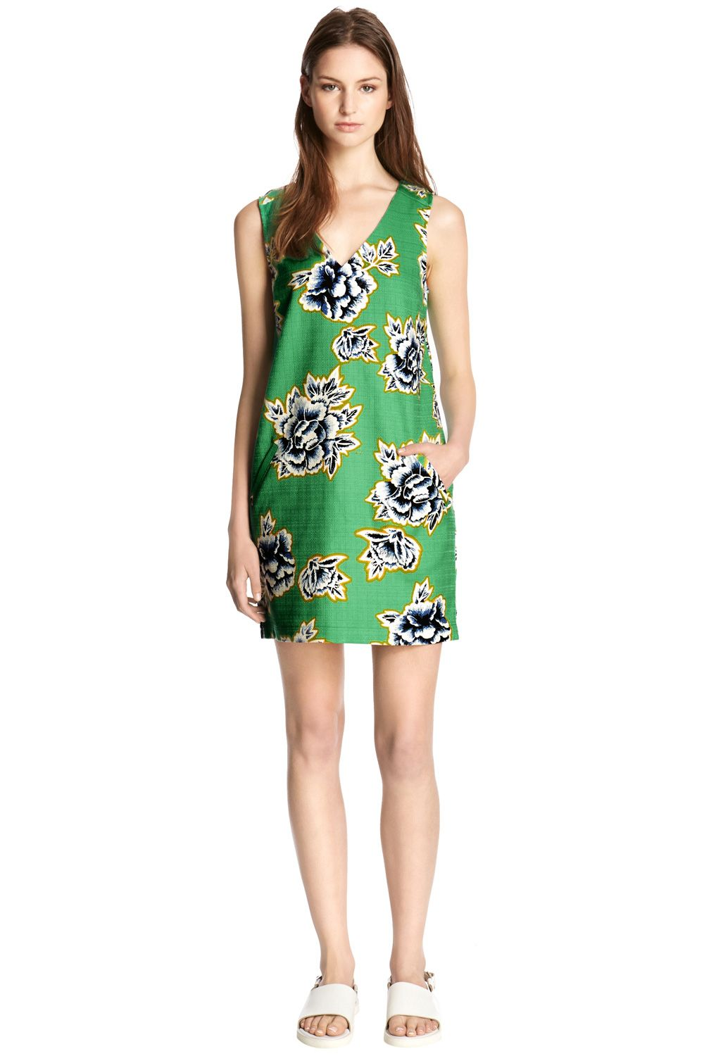Stencil Floral Shift Dress