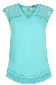 Embroidered Organza Insert Top