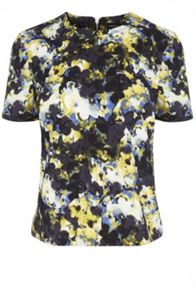 Dark Floral Abstract Top
