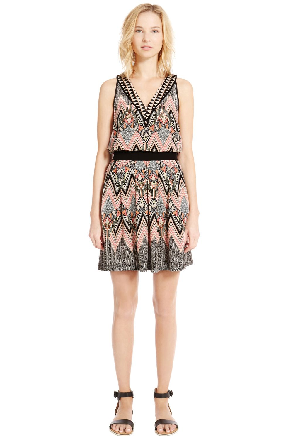 Engineered Tribal Skater Dress