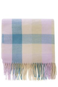 Pastel Blanket Check Scarf