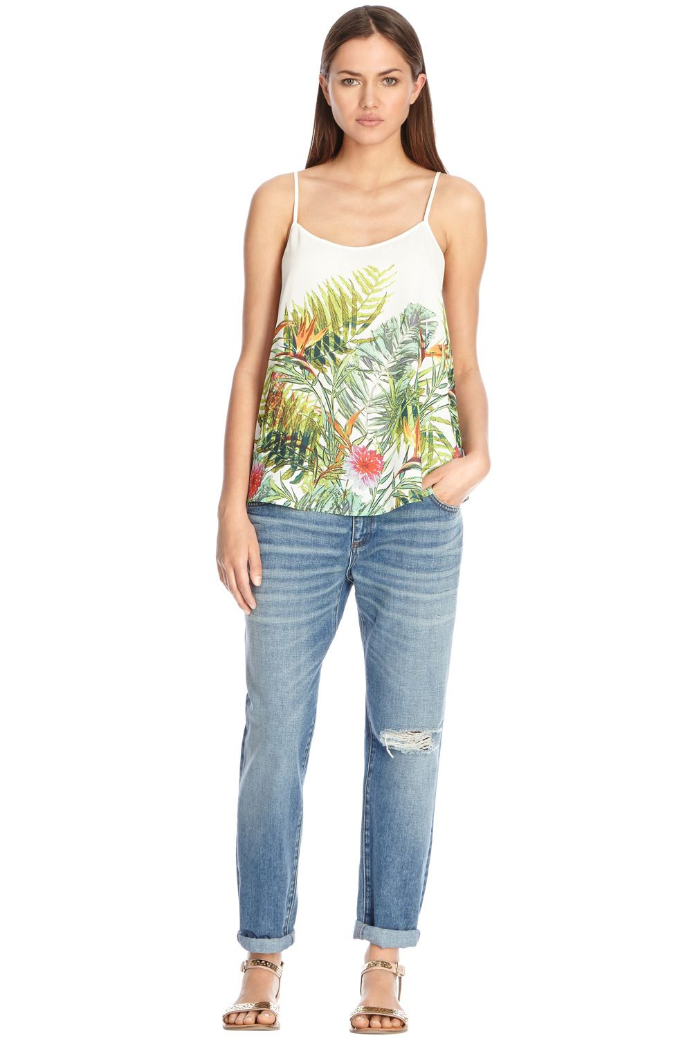 Tropical Palm Print Camisole