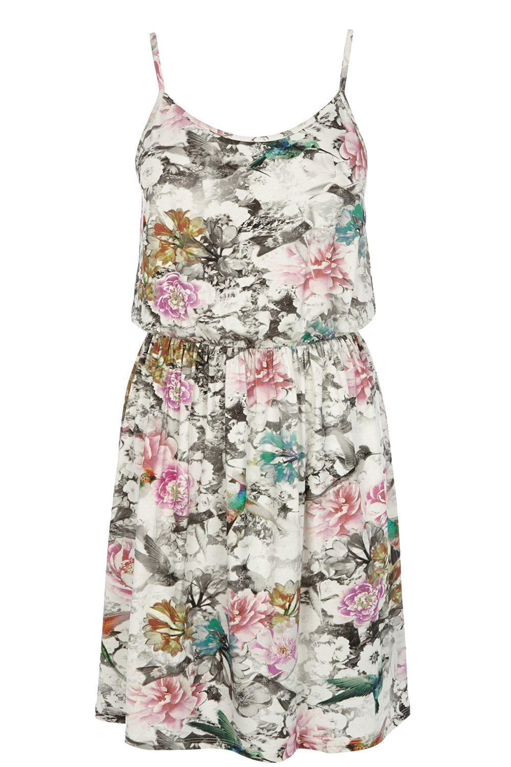 Hummingbird Print Sun Dress