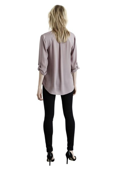 Warehouse Concealed zip blouse