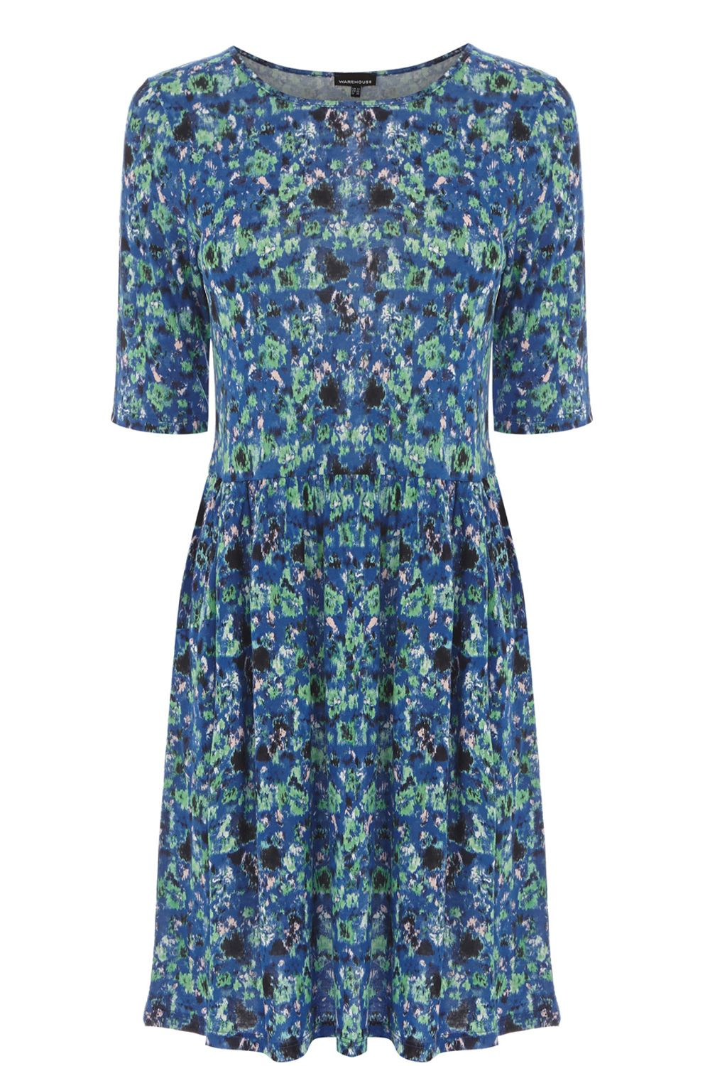 Blurred floral print day dress