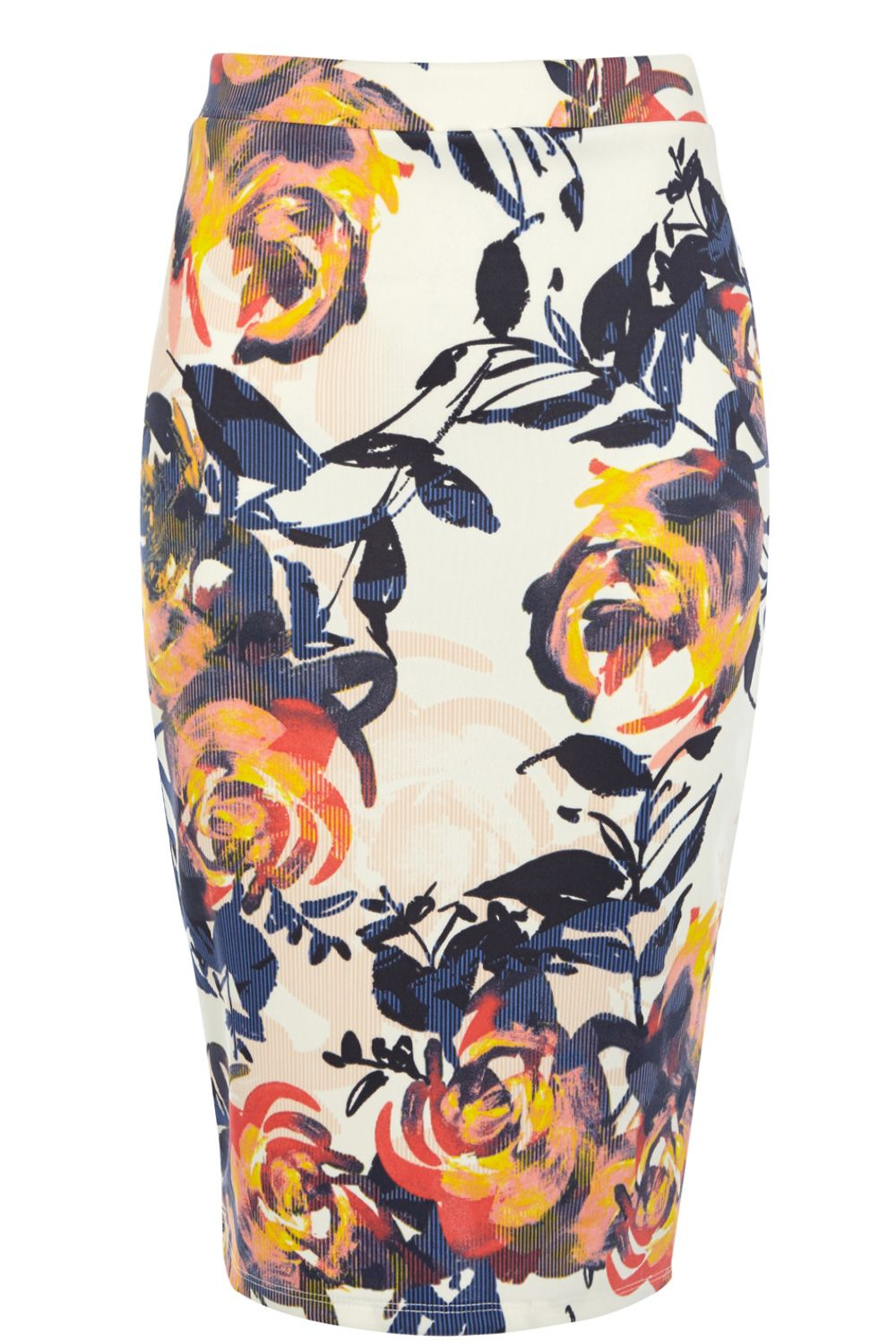 Floral Brushstroke Print Co-Ord Skirt
