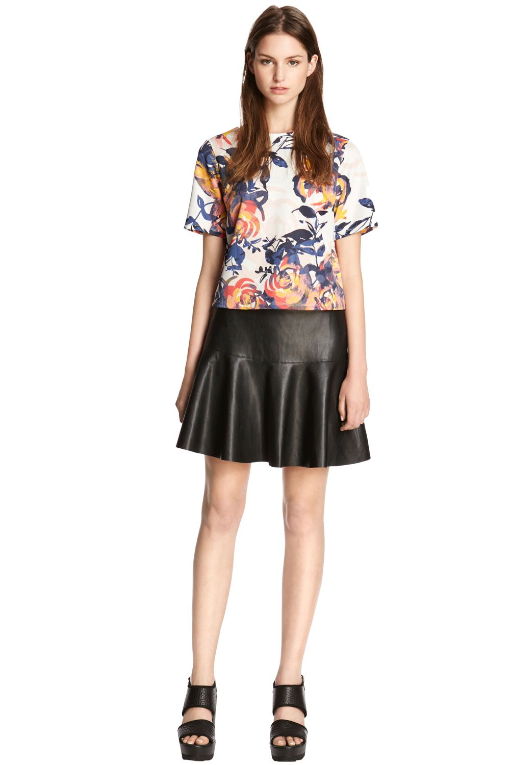 Floral Brushstroke Print Co-ord Top