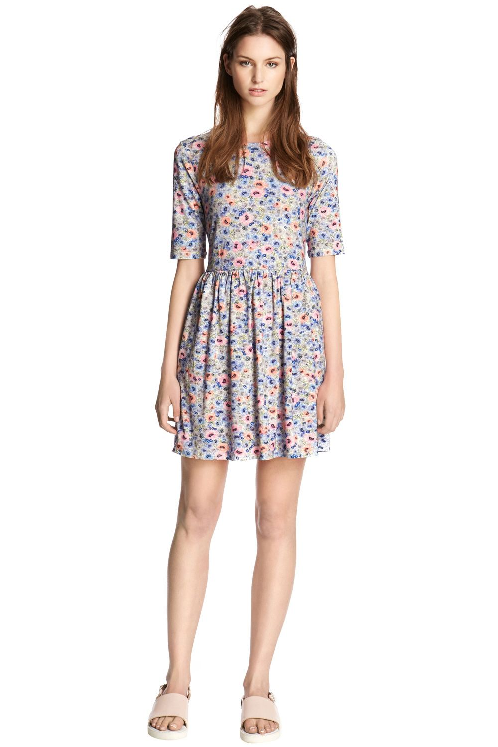 Ditsy Floral Print Day Dress