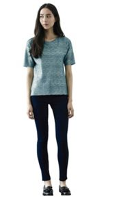 Metallic textured t shirt