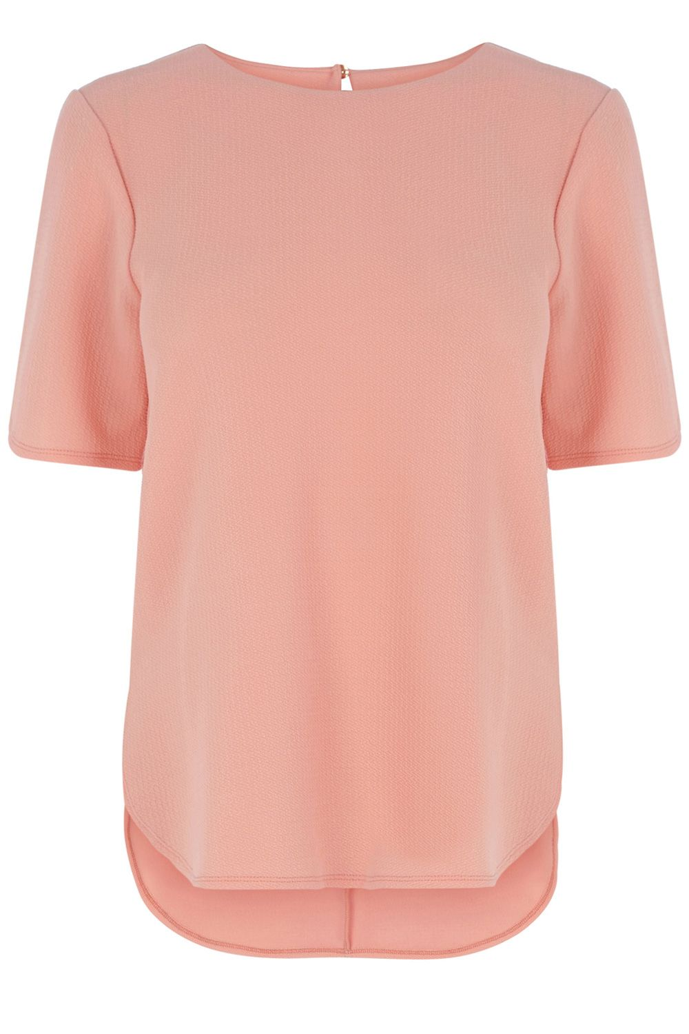 Crepe split side T-shirt