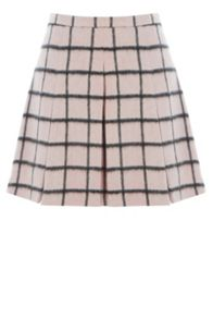 Brushed check skirt