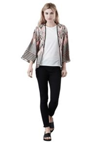 Placement Tribal Kimono Jacket