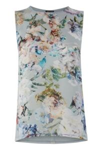 Crystal Floral Woven Front Shell