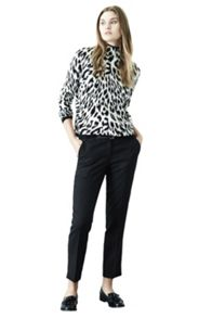 Jacquard belted trouser