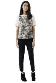 Meadow floral woven front t shirt