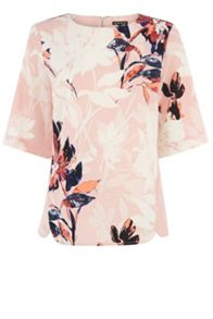 Placement Floral Elbow Top