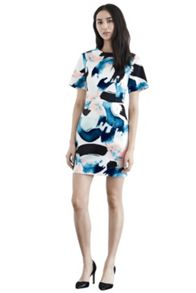 Brush stroke print dress