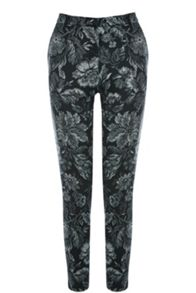 Tapestry Floral Print Trousers